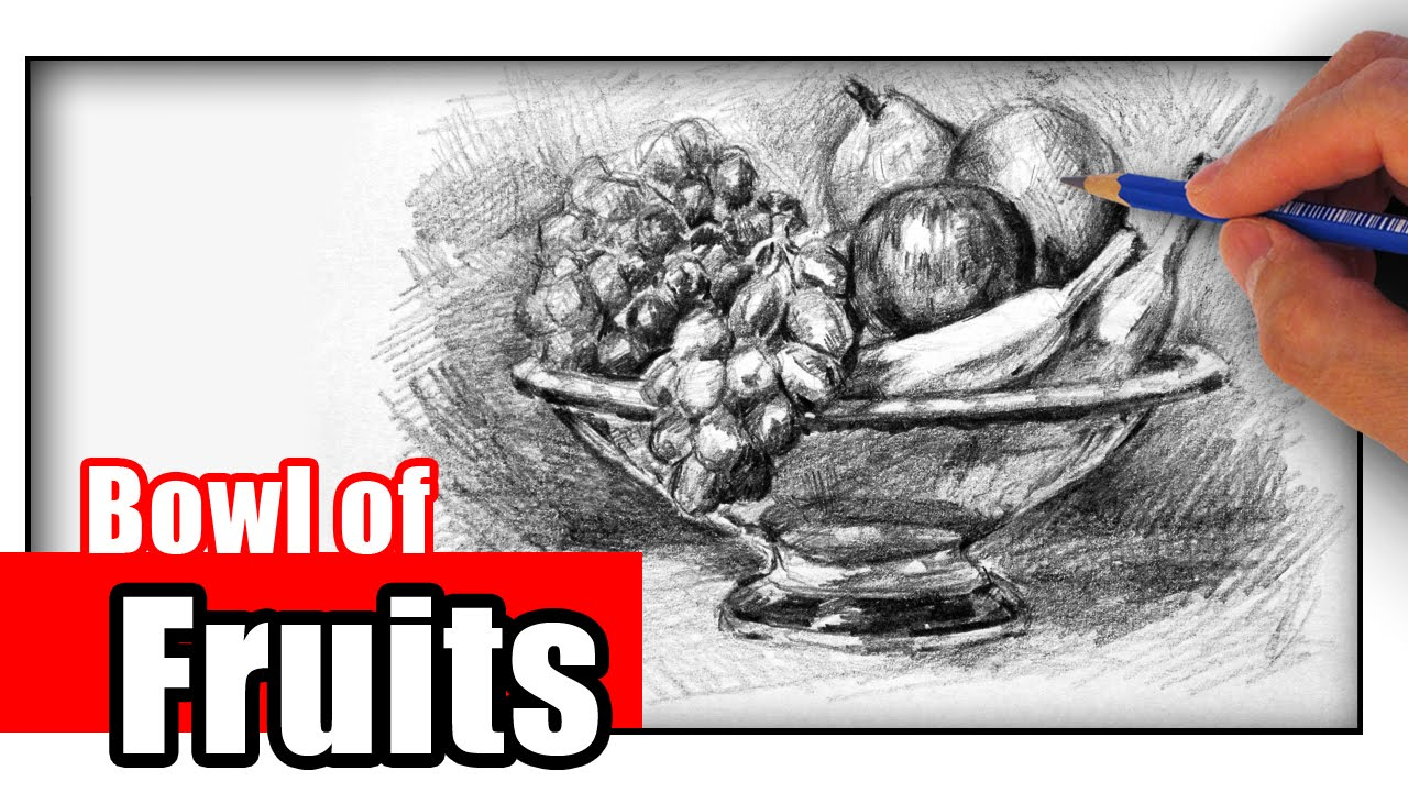 1280x720 How To Draw A Fruit Bowl With Pencil