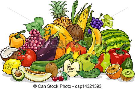 Fruits And Vegetables Drawing At Getdrawings Com Free For