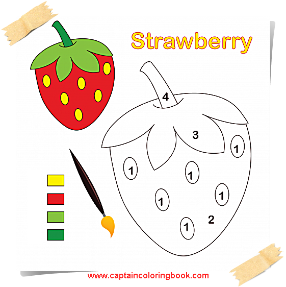 561x562 Fruits And Vegetables Strawberry Coloring Pages