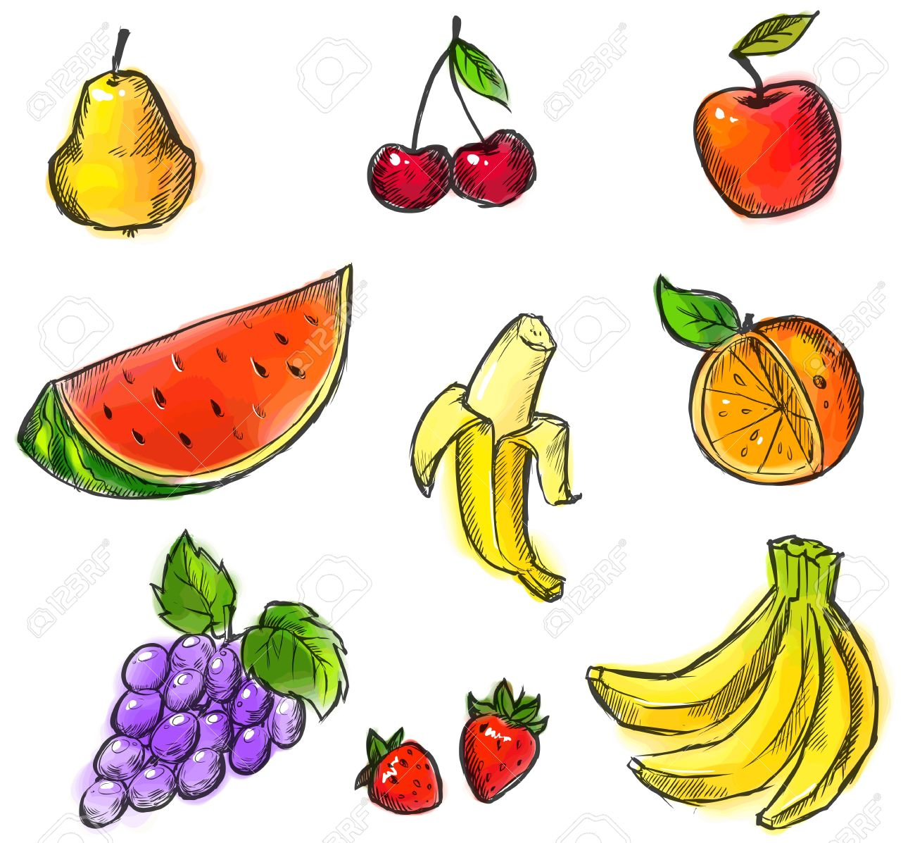 Fruits Drawing Images at GetDrawings.com