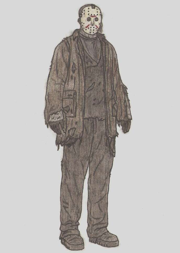 688x969 Jason Voorhees (Freddy Vs Jason) Full Body Drawing By Mrsidorax
