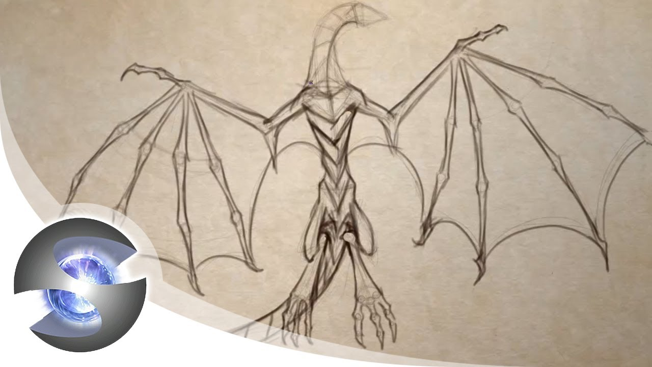 1280x720 How To Draw A Dragon Part 2 Of 5