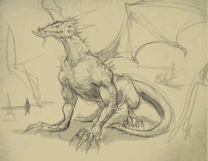 712x550 How To Draw A Dragon