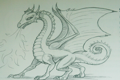 400x267 How To Draw A Dragon Part 3