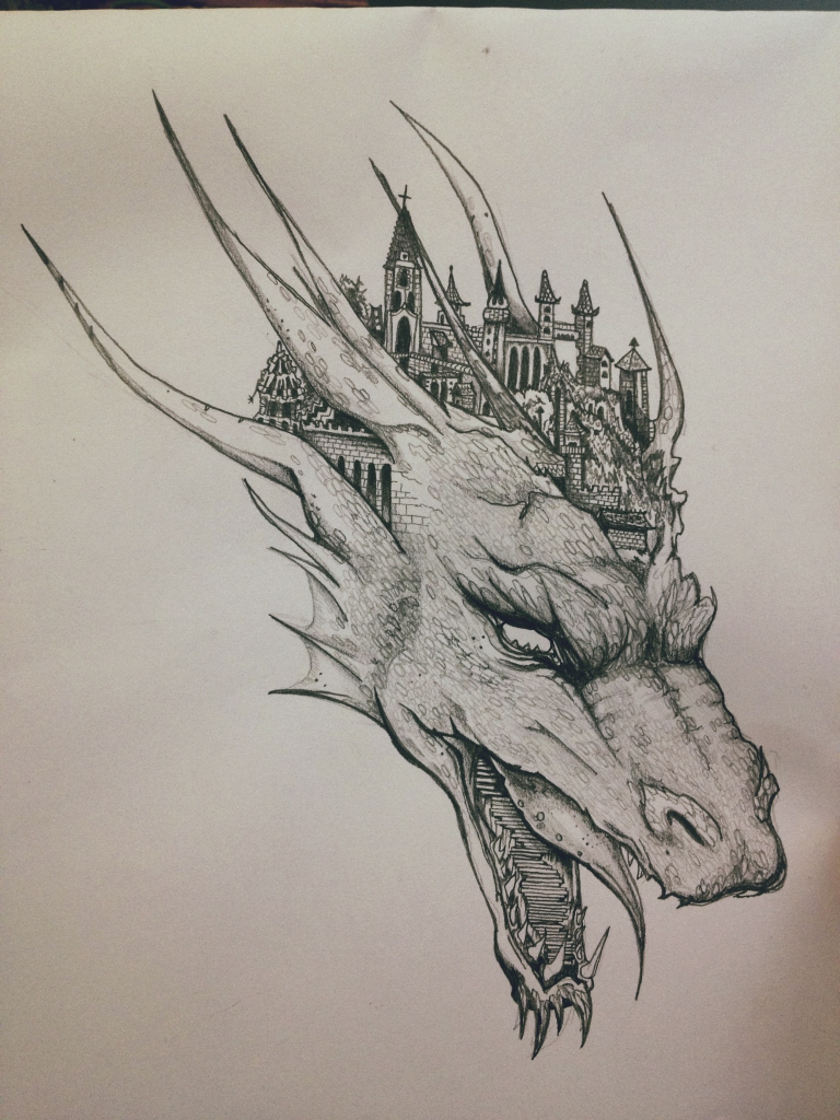 768x1024 Pencil Drawing Of A Dragon Gallery Drawing Pencil Dragon