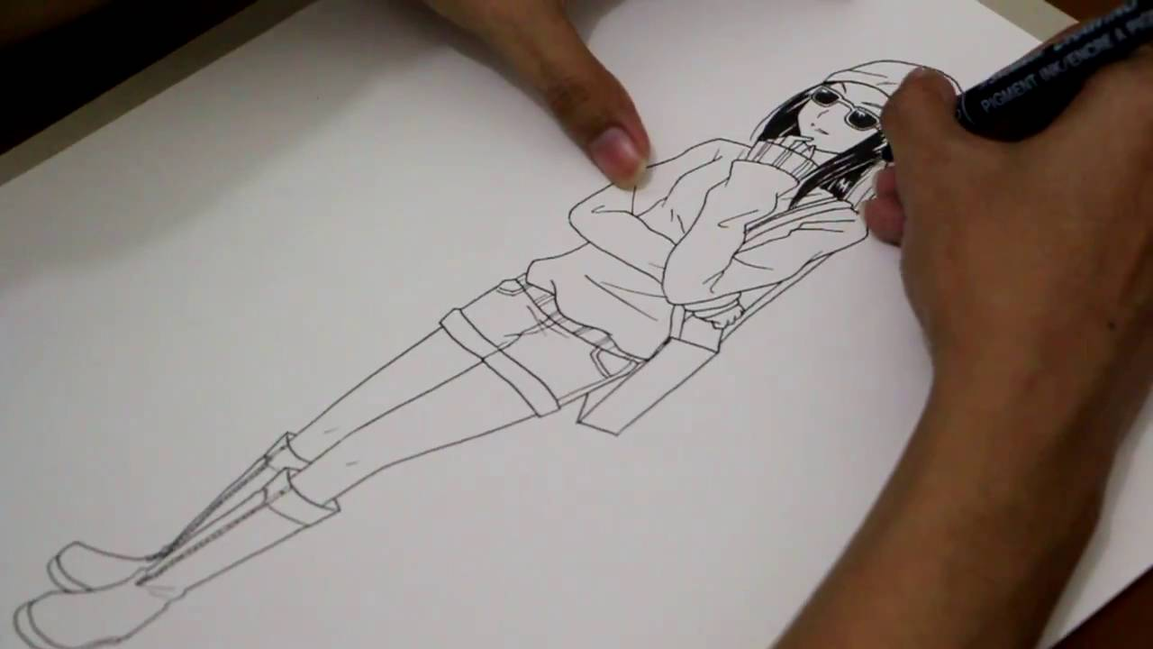 1280x720 How To Draw Anime Characters Full Body Drawing Tv Id