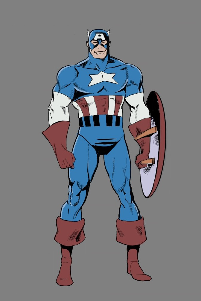 672x1003 How To Draw Captain America From Marvel