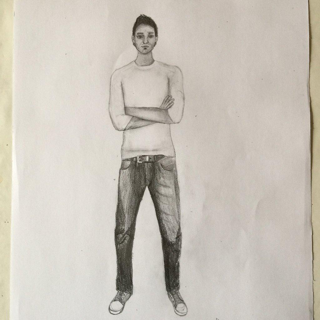 1024x1024 Man, Full Body Drawing Test By Danielmanni
