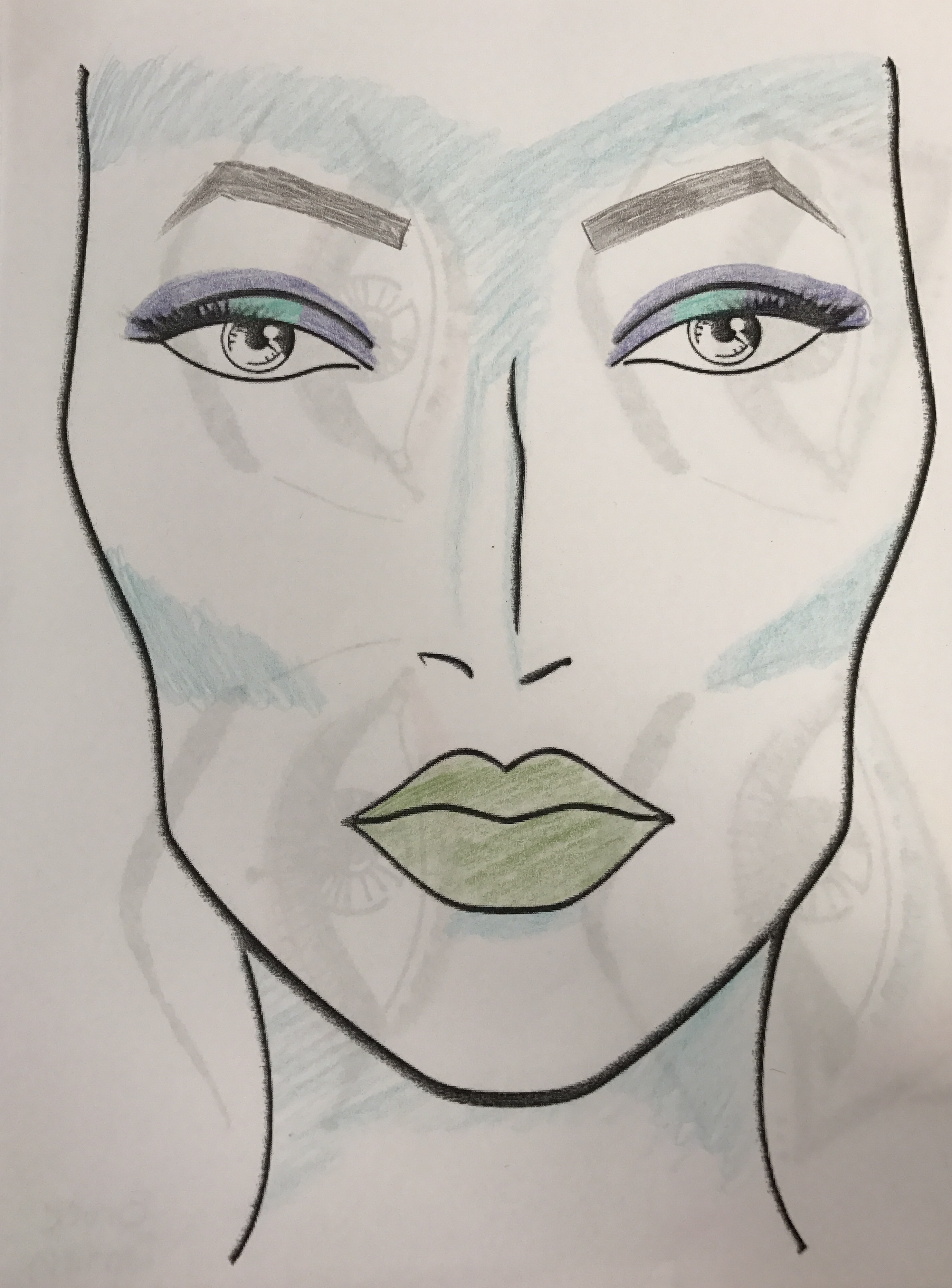 2756x3730 Drawing Of Fantasy Full Face Cosmo Makeup Project