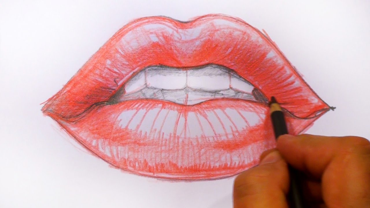 1280x720 How to Draw Red Lips