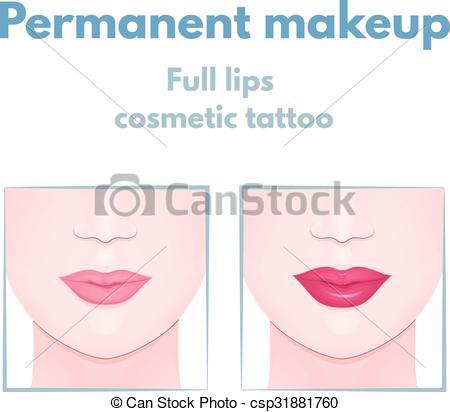 450x412 Permanent makeup lips, lip augmentation, women full lips clip art