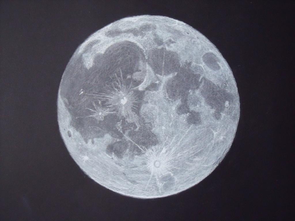 1024x768 Drawing Of Full Moon Full Moon