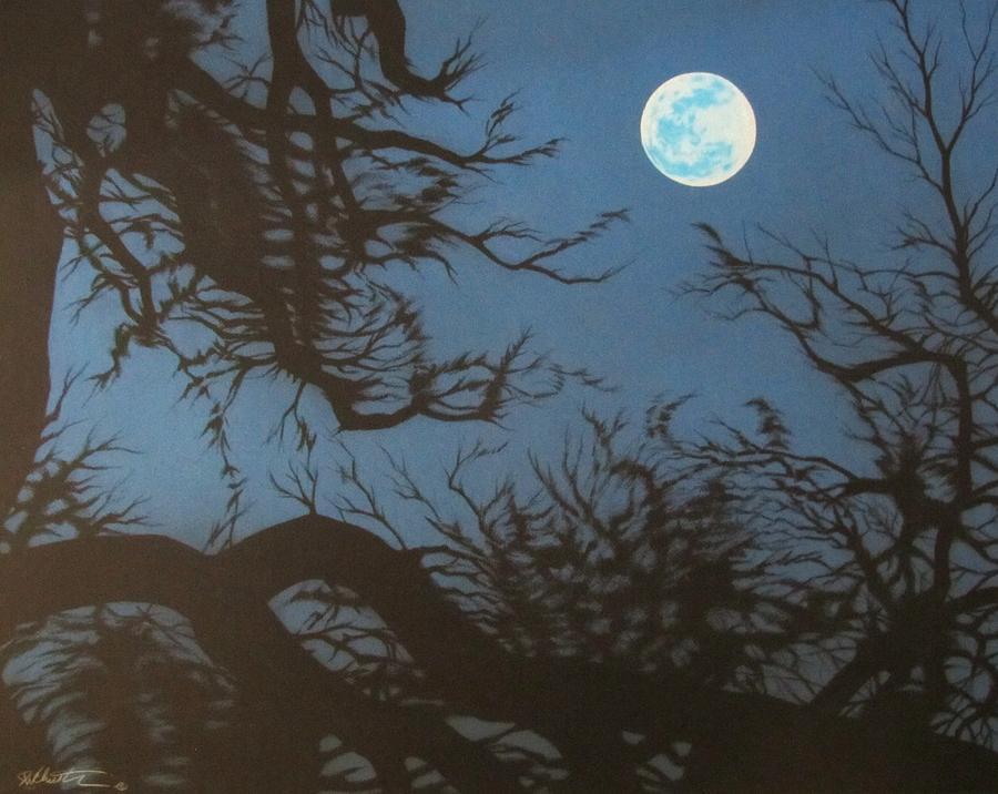 900x716 Full Moon Drawing By Joe Christensen