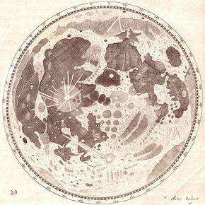 290x290 Hevelius' Drawing Of The Full Moon Solar System