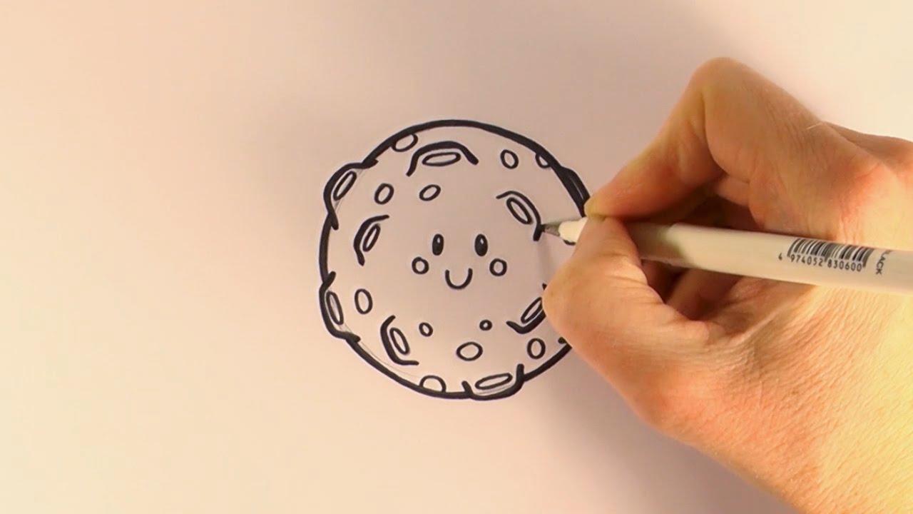 1280x720 How To Draw A Cartoon Full Moon