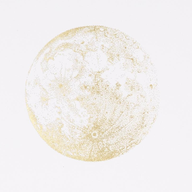 808x808 Sabrina Kaici Gold Foil Full Moon Artsnug