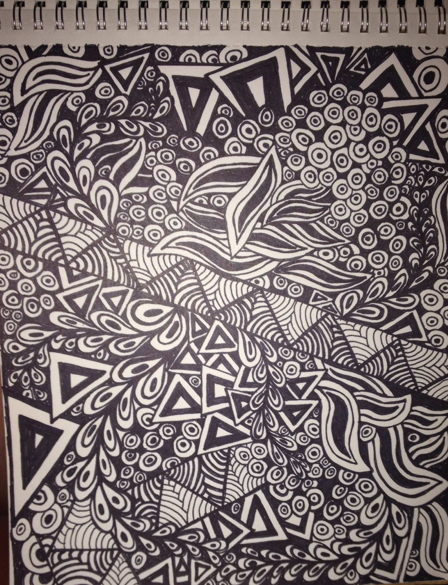 1566x2046 Full Page Zen Drawing Using An Extra Fine Point Sharpie. I Can