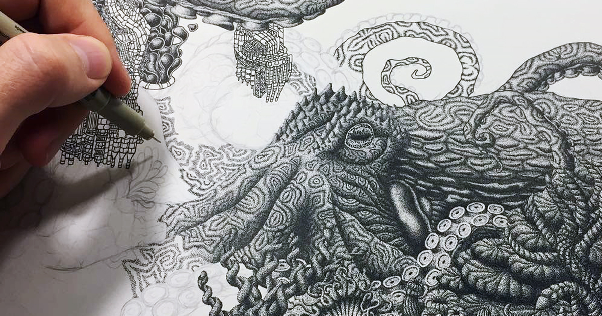 1200x630 Millions Of Dots Form Intricate Pen Drawings To Raise