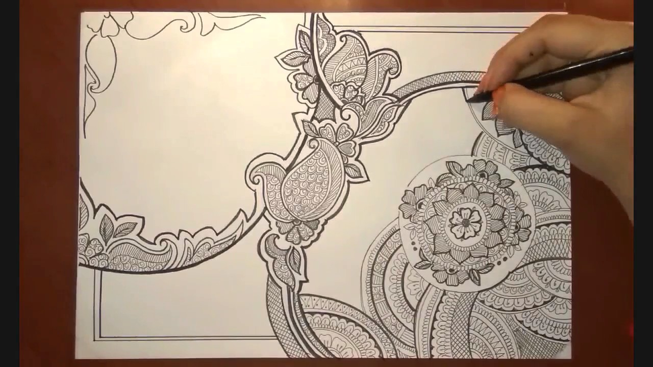 1280x720 Quick Mandala Speed Drawing Doodle Art Full Page Doodling