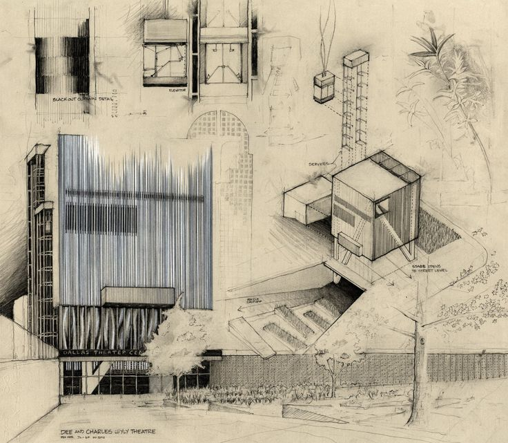 736x641 Architecture Sketches By Dustin Wheat Finalist In The Krob