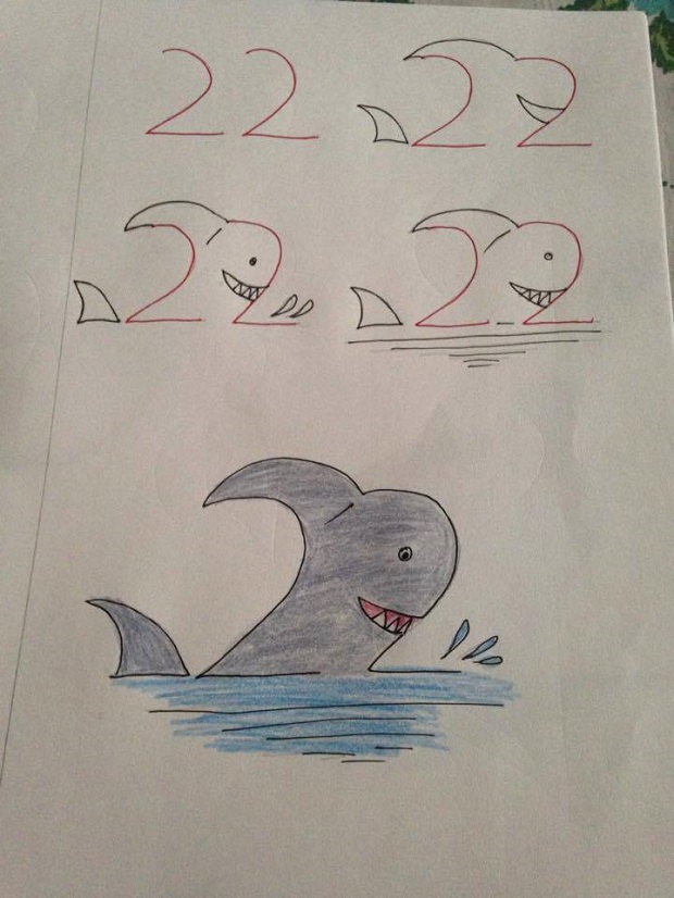 620x826 10 Fun Kids Drawings With Number As A Base
