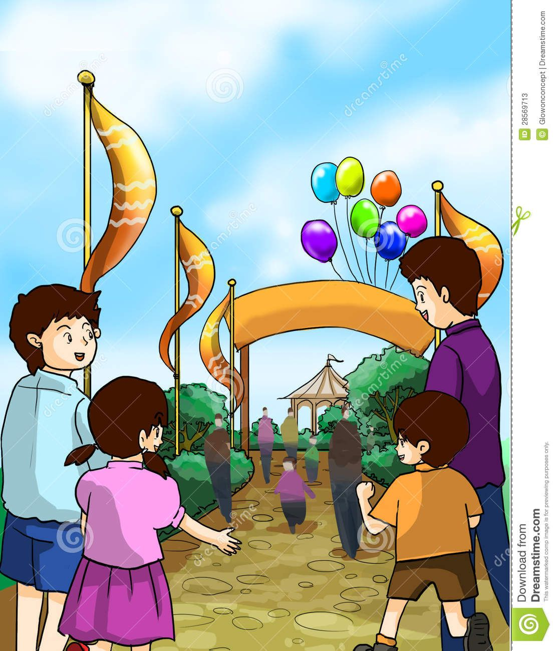 1110x1300 Funfair Drawing For Kids Kids And Families Go To A Fun Funfair
