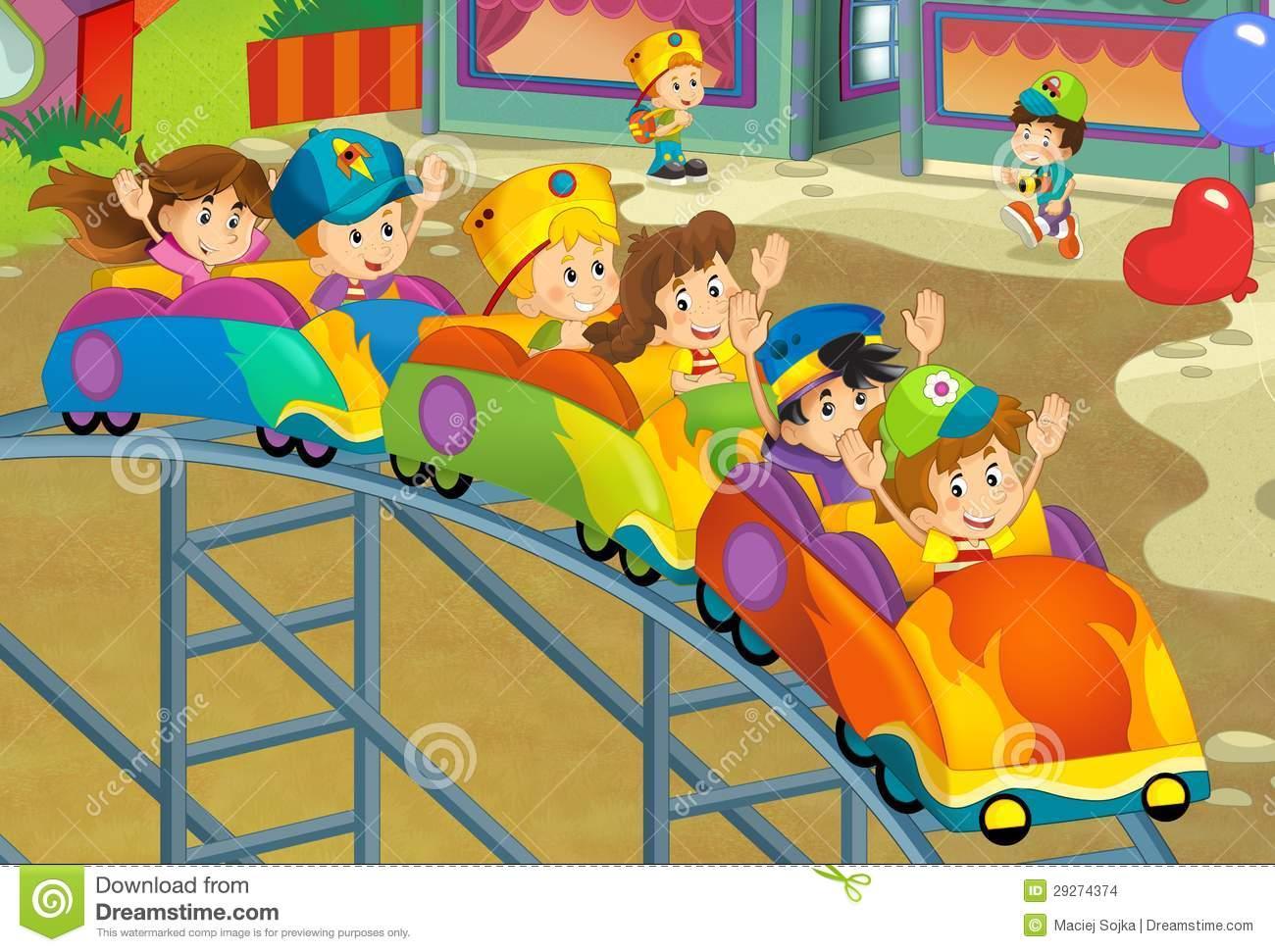 1300x971 Funfair Drawing For Kids The Funfair Funfair Paintings