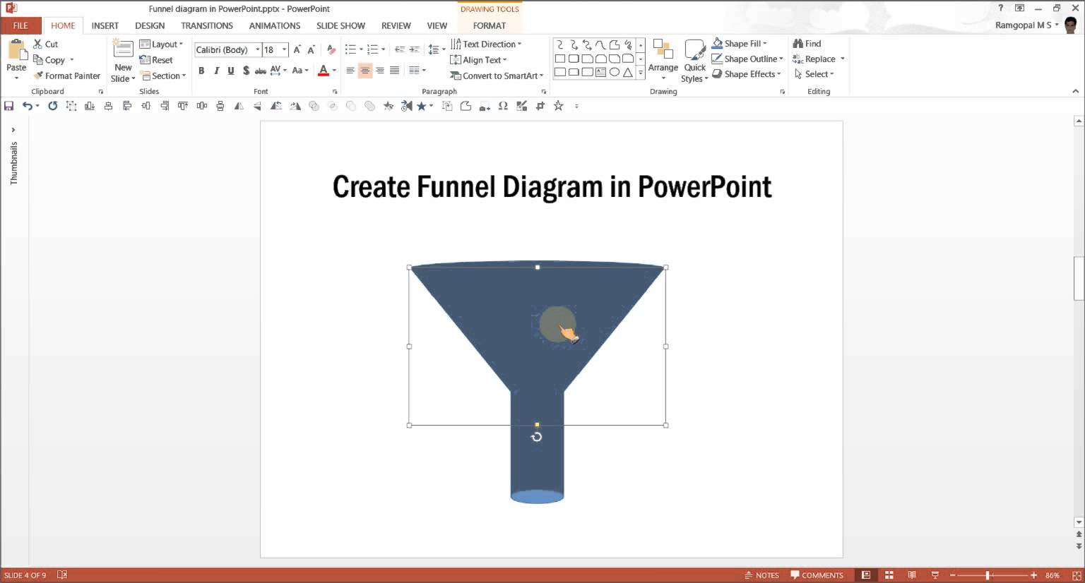 1536x826 Powerpoint Funnel Diagram Powerpoint Diagram Tutorial Series