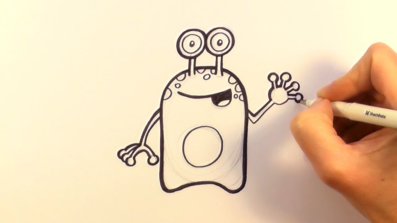 1280x720 How To Draw A Cartoon Alien