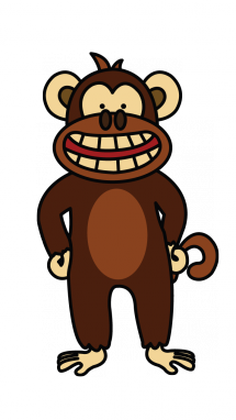 215x382 How To Draw A Funny Monkey, Easy Step By Step Drawing Tutorial