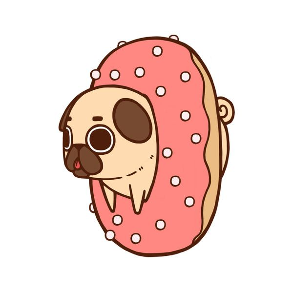 600x600 Puglie Lol Dog Drawing Illustration Art Funny Animals Cute Food