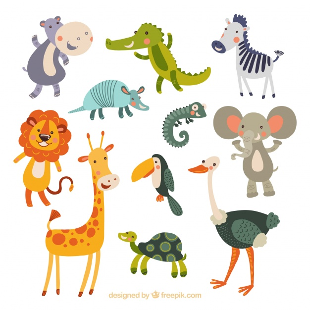 626x626 Funny Collection Of Hand Drawn Animals Vector Free Download
