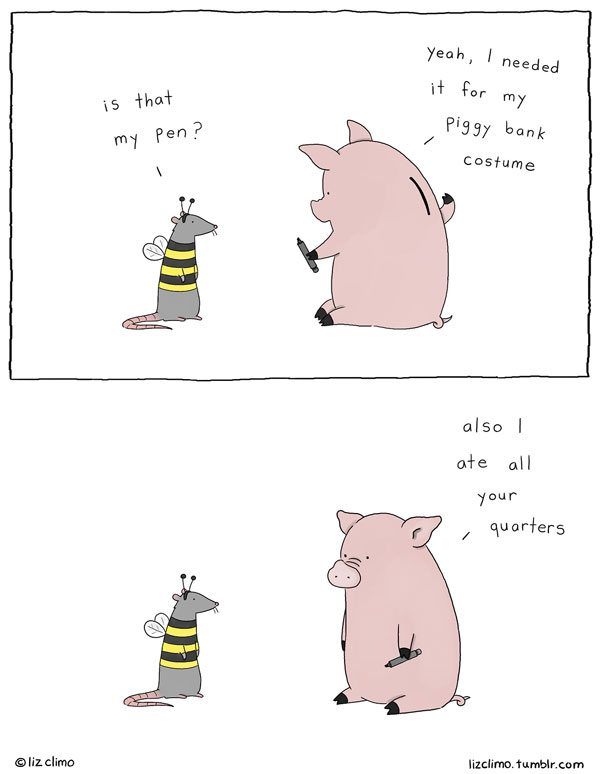 600x774 When She's Not Drawing The Simpsons, Liz Climo Makes Funny Animal