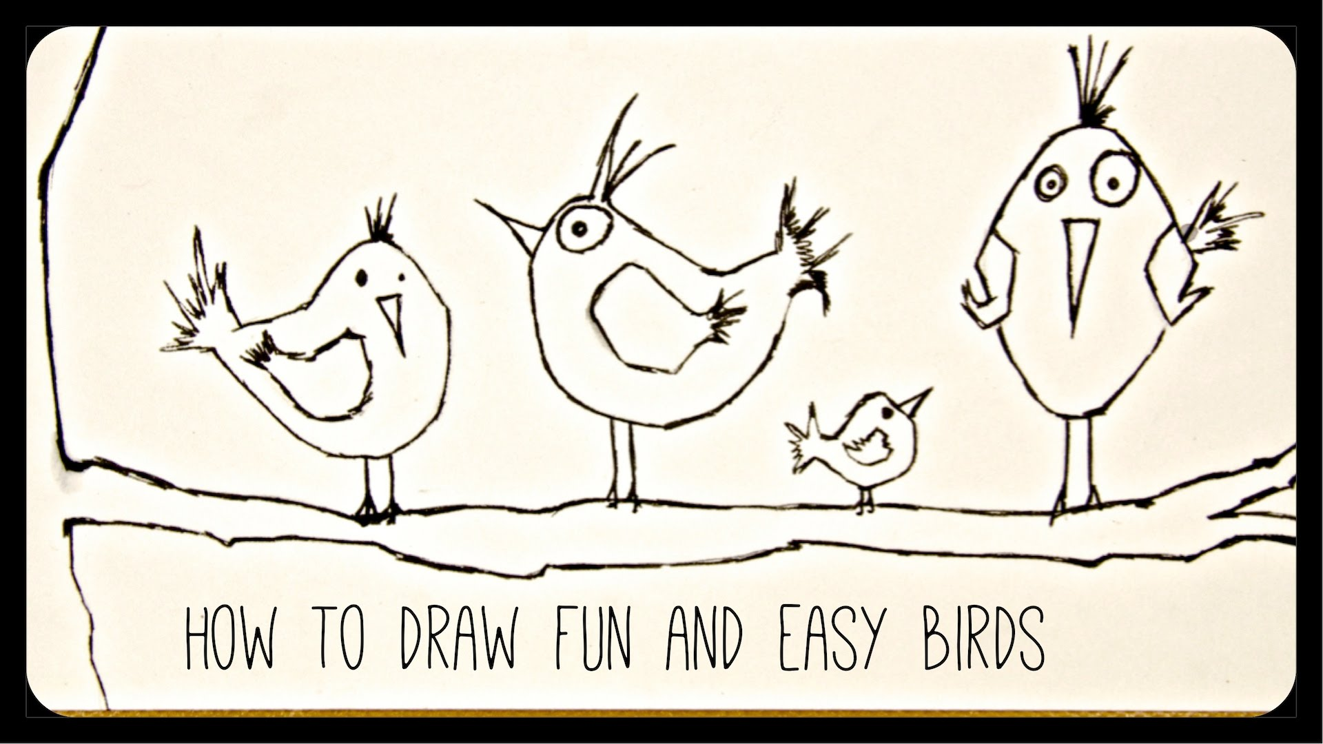 1920x1080 How To Draw Drawing Tutorial Funny And Easy Birds
