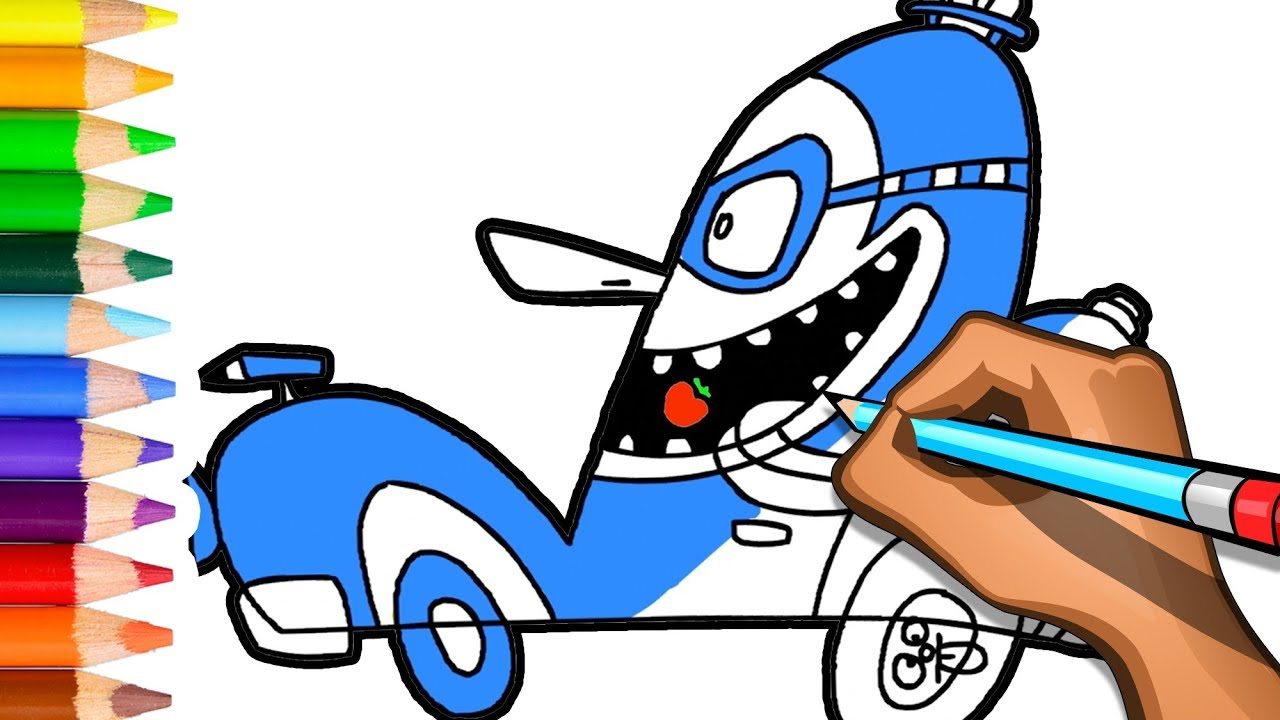 1280x720 Learn To Draw Funny Car