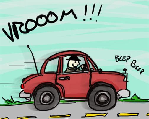 504x403 Vrooom Beep Beep! Best Car Drawing Evar ) Sean Gallo Designs