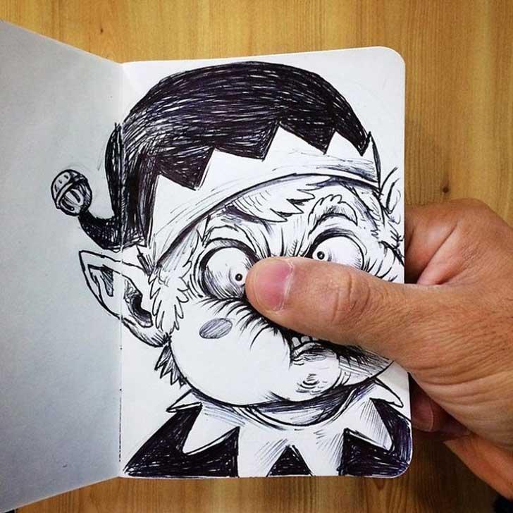 728x728 Divertidas Ilustraciones Animadas Pelean Con Su Creador Funny