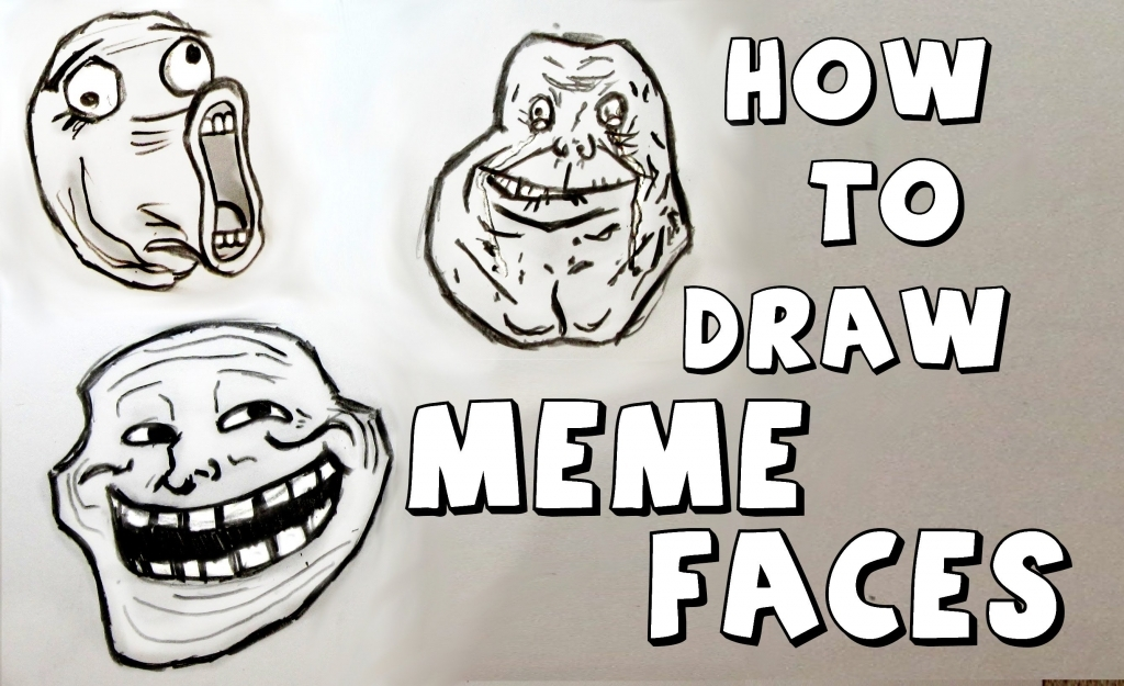 1024x625 How To Draw Funny Faces Ep 111 How To Draw Meme Faces Youtube
