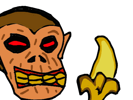 450x340 Forum Draw A Scary Or Funny Monkey Eating A Banana