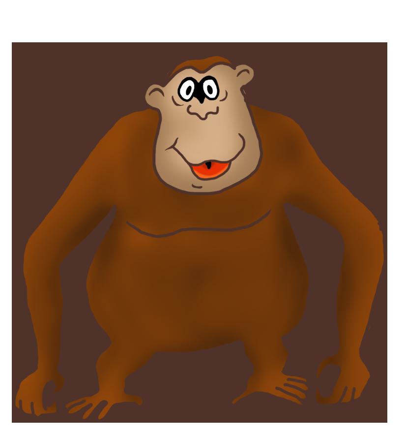 826x886 Funny Monkey Drawings
