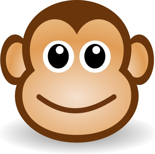 600x595 Funny Monkey Face Free Vector In Open Office Drawing Svg ( Svg