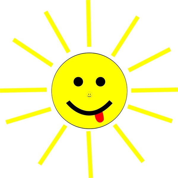 600x599 Funny Sun Face Cartoon Free Vector In Open Office Drawing Svg