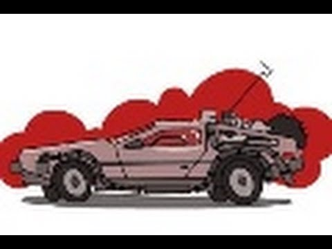 480x360 How To Draw The Delorean Time Machine From Back To The Future