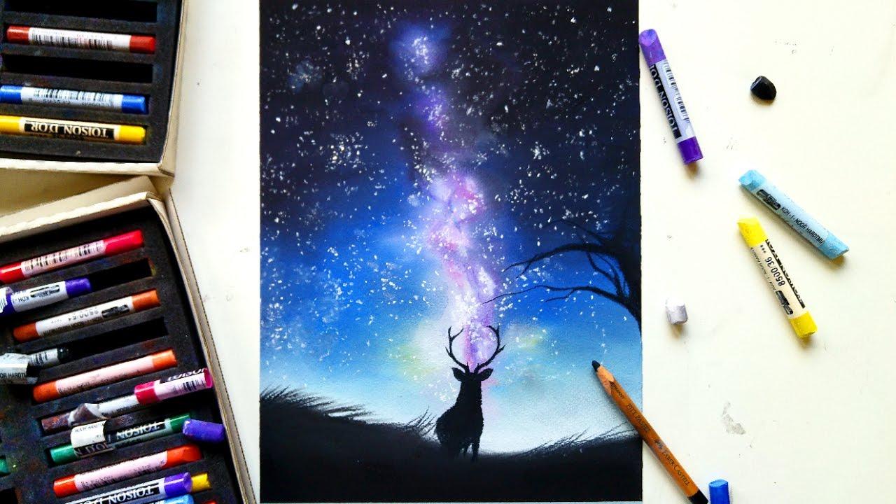 1280x720 Drawing A Galaxy With Soft Pastels Leontine Van Vliet