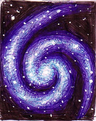 372x468 Galaxy Drawing By Corinazone