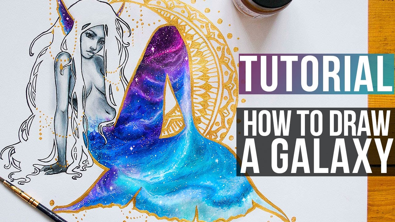 1280x720 How To Draw Galaxy With Coloured Pencils