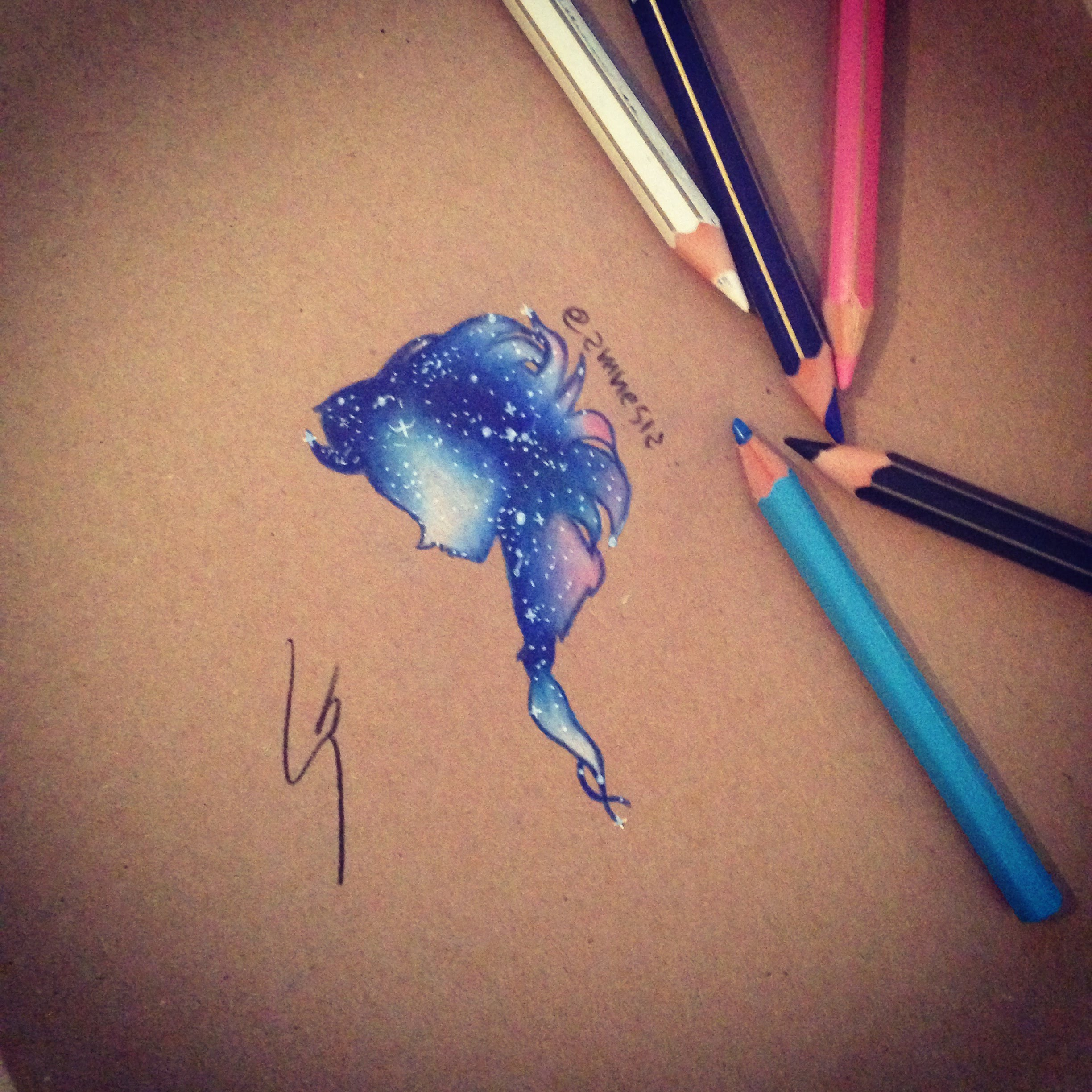 2448x2448 How To Draw Galaxy Elsa With Colored Pencil! By Sgalia Giuseppe