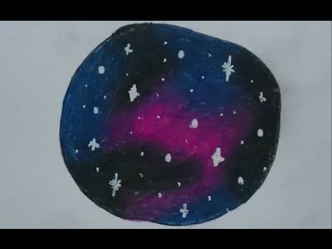 480x360 How To Draw A Galaxy With Colored Pencils