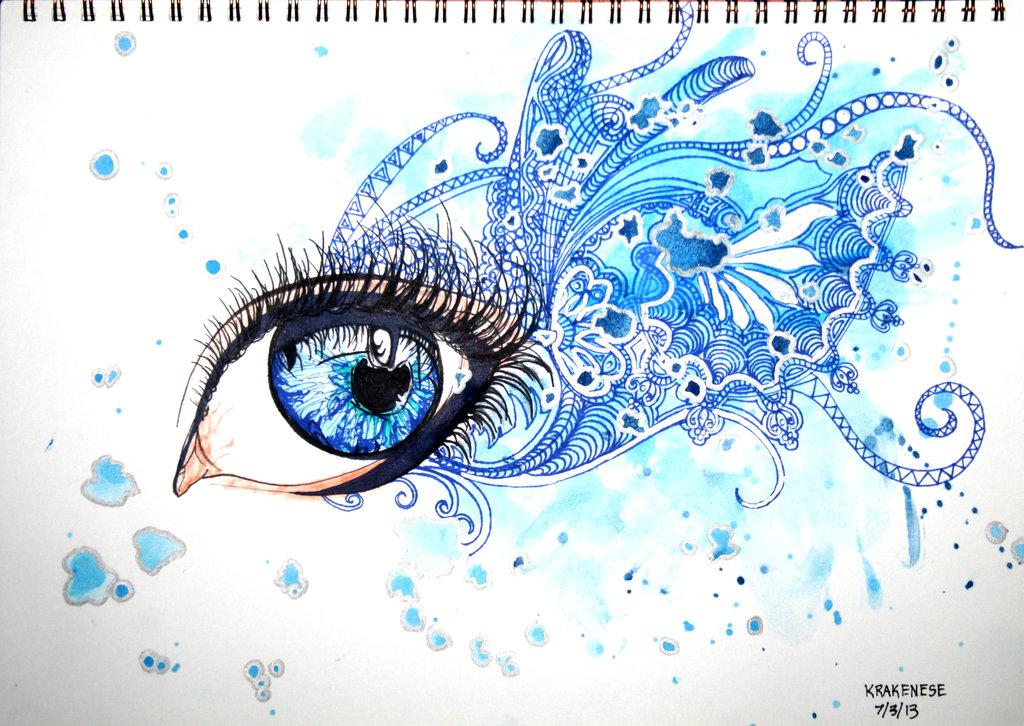 1024x726 Water Faerie Eyes By Krakenese