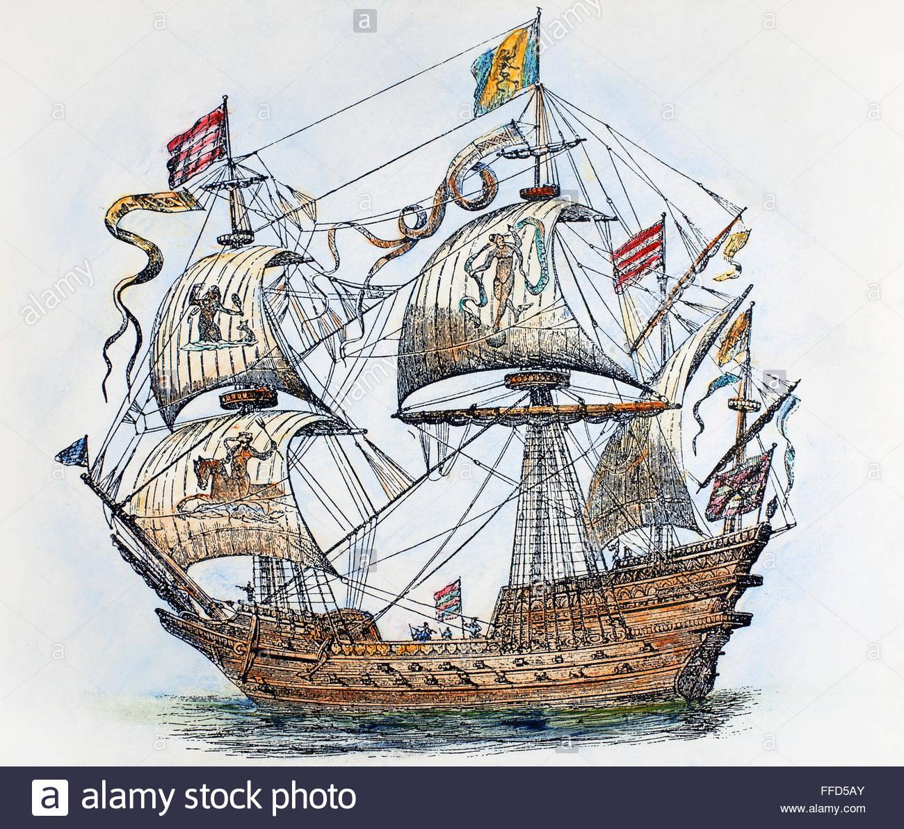 1300x1193 Spanish Galleon, 1588. Na Galleon From The Spanish Armada Of 1588
